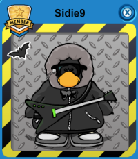 sidie9 player card