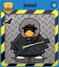 sidie9 player card